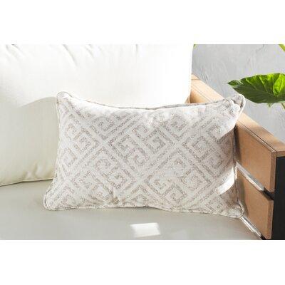 Regina Indoor/Outdoor Lumbar Pillow Color: Ivory