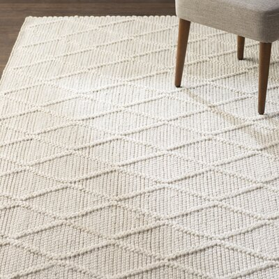 Billie Hand-Tufted Ivory Area Rug Rug Size: Round 6