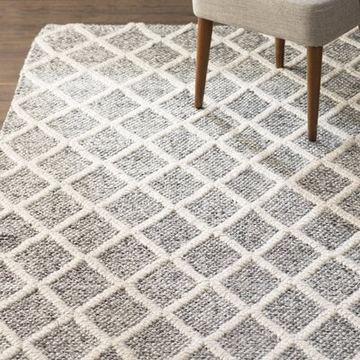 Billie Hand-Tufted Ivory/Black Area Rug Rug Size: Rectangle 6 x 9