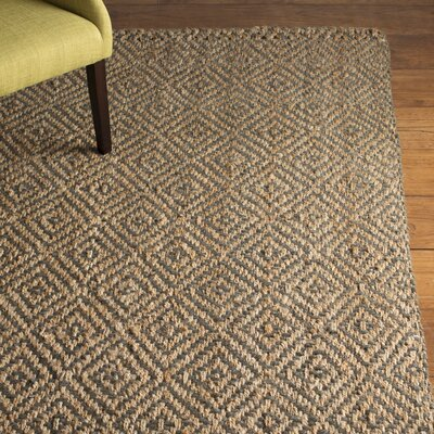 Grassmere Hand-Woven Natural/Grey Area Rug Rug Size: Rectangle 9 x 12