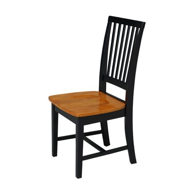 Kirsten Solid Wood Dining Chair Finish: Black / Cherry
