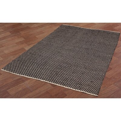 Synthia Hand-Woven Brown Area Rug Rug Size: 4 x 6