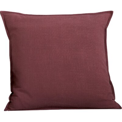 Columbine 100% Cotton Throw Pillow Color: Burgundy