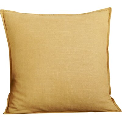 Columbine 100% Cotton Throw Pillow Color: Honey Mustard