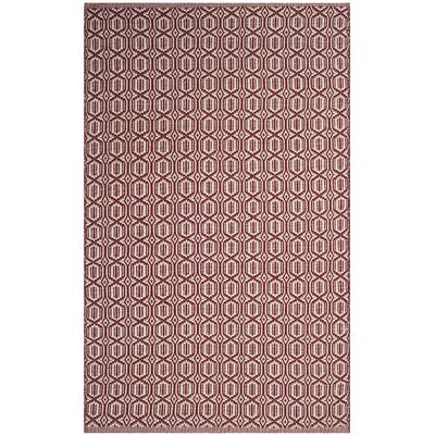 Oxbow Hand-Woven Red Area Rug Rug Size: Rectangle 4 x 6