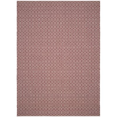 Oxbow Hand-Woven Red Area Rug Rug Size: Rectangle 8 x 10