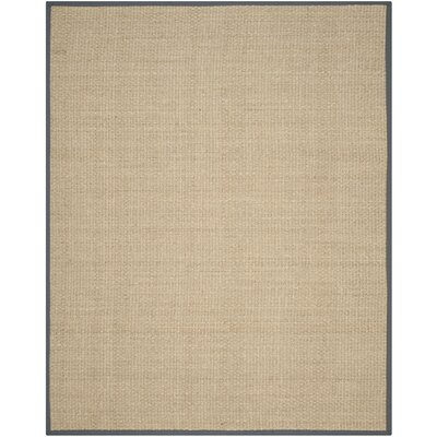 Binford Natural/Dark Gray Area Rug Rug Size: Rectangle 8 x 10