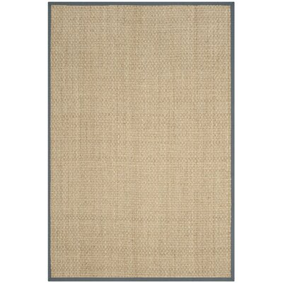 Binford Natural/Dark Gray Area Rug Rug Size: Rectangle 2 x 3
