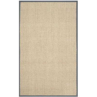 Binford Natural/Dark Gray Area Rug Rug Size: Rectangle 5 x 8