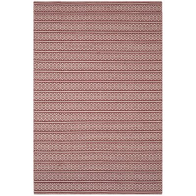 Oxbow Hand-Woven Red Area Rug Rug Size: Rectangle 6 x 9