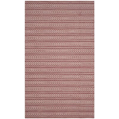Oxbow Hand-Woven Red Area Rug Rug Size: Rectangle 5 x 8