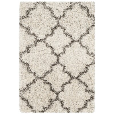 Samira Shag Ivory/Gray Area Rug Rug Size: Rectangle 2 x 3