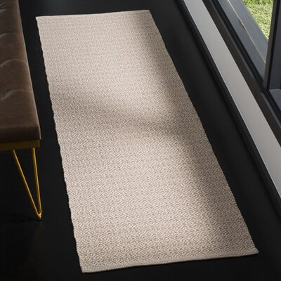 Oxbow Hand-Woven Ivory/Beige Area Rug Rug Size: Runner 23 x 7
