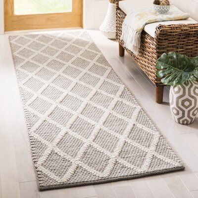 Billie Hand-Tufted Gray Area Rug Rug Size: Runner 2'3