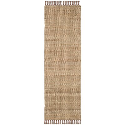 Muriel Hand Woven Brown Area Rug Rug Size: Runner 26 x 8