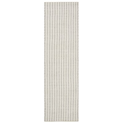 Billie Hand-Tufted Gray/Ivory Area Rug Rug Size: Runner 23 x 8