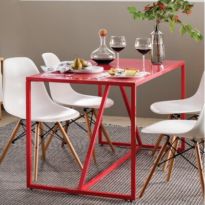 Strut Table Table Size: X-Large - 90, Table Color: Watermelon