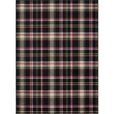 Longmont Black Indoor Area Rug Rug Size: Rectangle 53 x 73