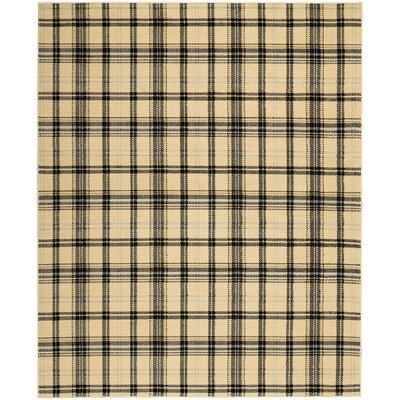 Longmont Plaid Cream/Black Indoor Area Rug Rug Size: Rectangle 710 x 910