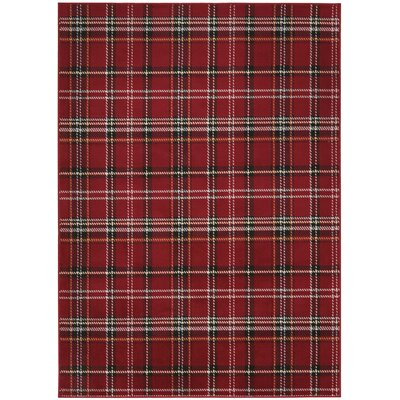 Longmont Red Indoor Area Rug Rug Size: Rectangle 53 x 73