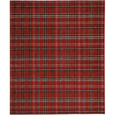 Longmont Red Indoor Area Rug Rug Size: Rectangle 710 x 910