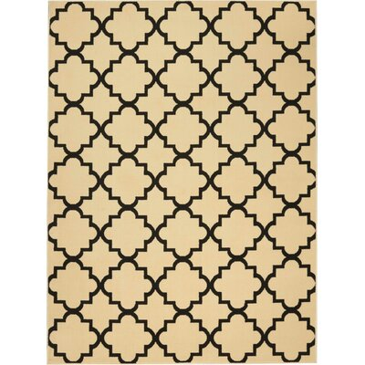 Longmont Cream/Black Indoor Area Rug Rug Size: Rectangle 53 x 73