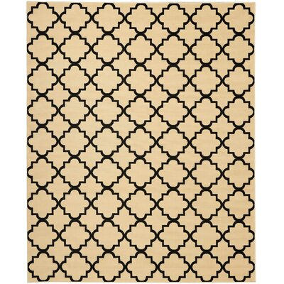 Longmont Cream/Black Indoor Area Rug Rug Size: Rectangle 710 x 910