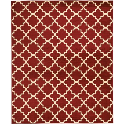 Longmont Trellis Red Indoor Area Rug Rug Size: Rectangle 710 x 910