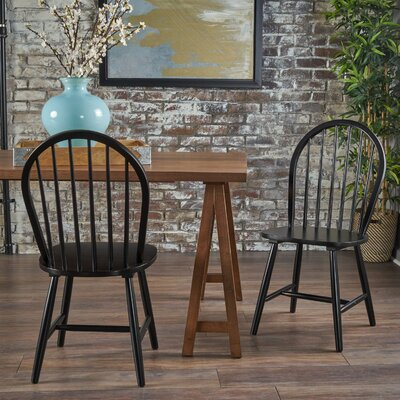 Snydertown Dining Chair Color: Black