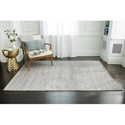 Dions Hand-Woven Gray Area Rug Rug Size: 8 x 10