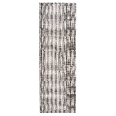 Dions Hand-Woven Gray Area Rug Rug Size: Runner 26 x 8