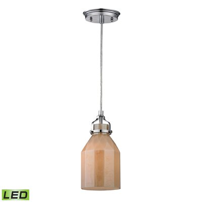 Orofino 1-Light Mini Pendant Bulb Type: Dimmable 800 Lumens 13.5W LED Bulb