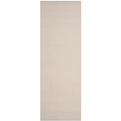 Oxbow Hand-Woven Cotton Ivory/Gray Area Rug Rug Size: Runner 23 x 6