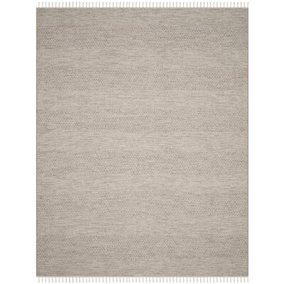 Oxbow Hand-Woven Ivory/Steel Grey Area Rug Rug Size: Rectangle 9 x 12