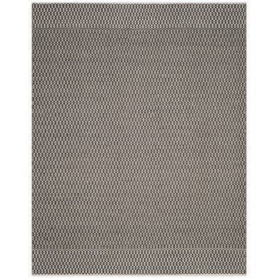 Mooreton Hand-Woven Ivory/Black Area Rug Rug Size: Rectangle 9 x 12