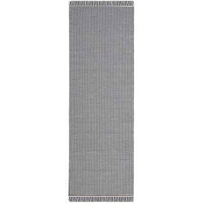 Oxbow Hand-Woven Navy Area Rug Rug Size: Runner 23 x 10