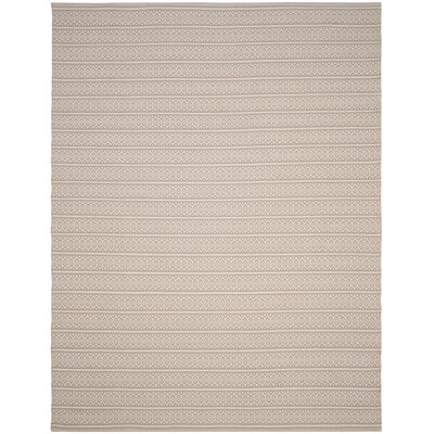 Oxbow Hand-Woven Ivory Area Rug Rug Size: Rectangle 9 x 12