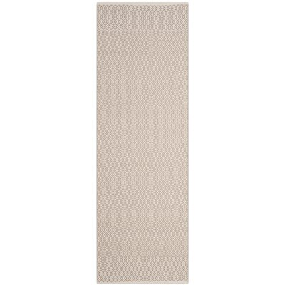 Oxbow Hand-Woven Gray Area Rug Rug Size: Runner 23 x 10
