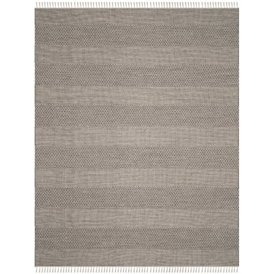 Oxbow Hand-Woven Ivory/Anthracite Area Rug Rug Size: Rectangle 10 x 14