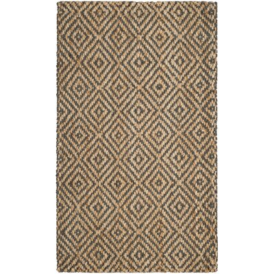 Grassmere Hand-Woven Natural/Grey Area Rug Rug Size: Rectangle 2 x 3