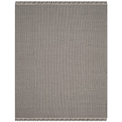 Oxbow Hand-Woven Cotton Ivory/Black Area Rug Rug Size: Rectangle 9 x 12