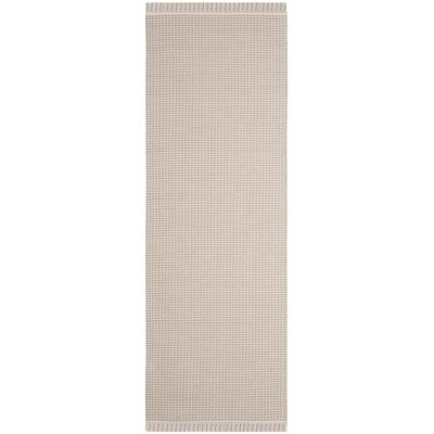 Oxbow Hand-Woven Beige Area Rug Rug Size: Rectangle 8 x 10