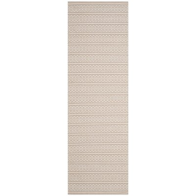 Oxbow Hand-Woven Ivory Area Rug Rug Size: Runner 23 x 10