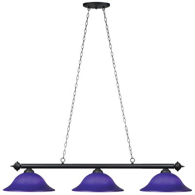 Harpersfield 3-Light Billiards Light Shade Color: Blue