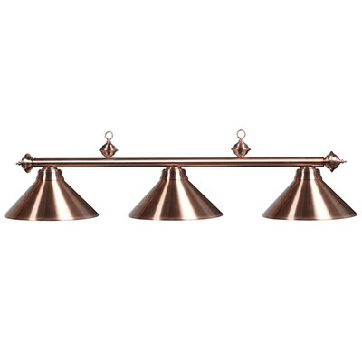 Harpersfield 3-Light Metal Billiards Light Finish: Copper
