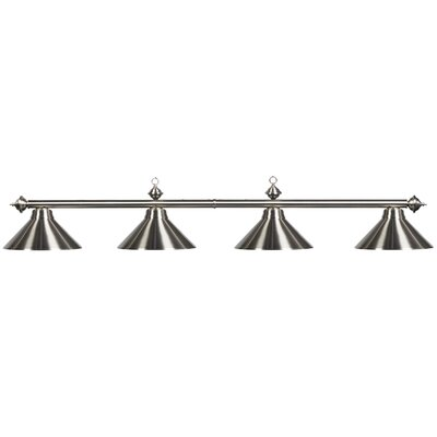 Harpersfield 4-Light Billiards Light Shade Color: Stainless Steel