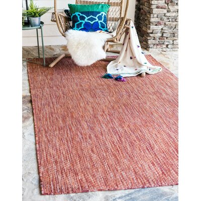 Janet Rust Red Area Rug Rug Size: Rectangle 7 x 10