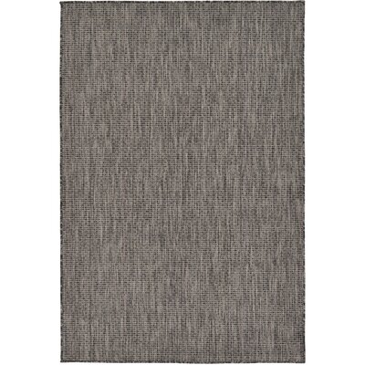 Janet Black Area Rug Rug Size: Rectangle 6 x 9