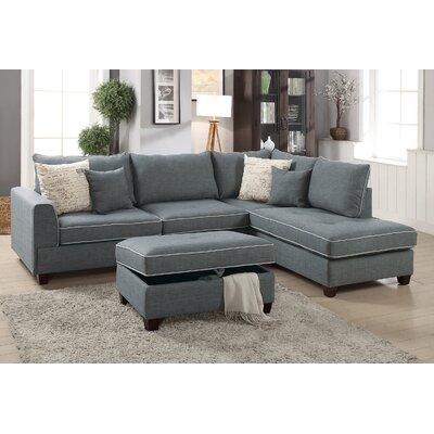 Malta Reversible Sectional Upholstery: Slate