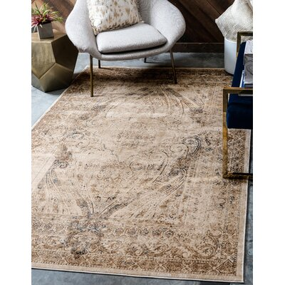 Abbeville Brown/Beige Area Rug Rug Size: Rectangle 9 x 12